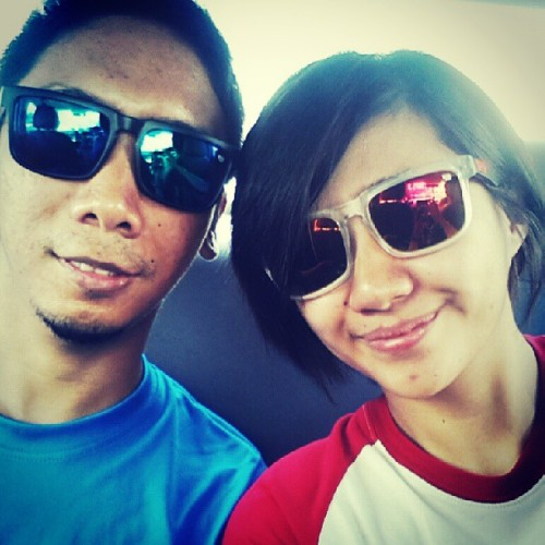 Blue and red. ^_^ #sporty #husbandandwife