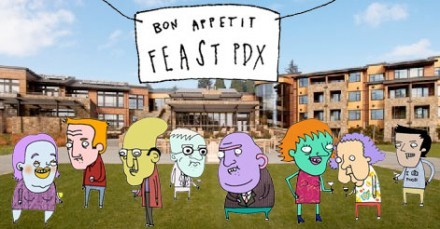 A fun romp of a read with cute cartoons to illustrate Bon Appetit's FEAST PDX!
