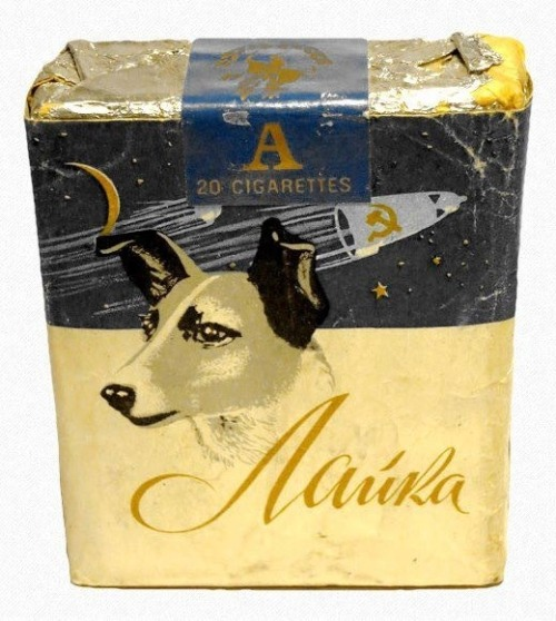 cooldogs:  Laika cigarettes, 1957, Russia