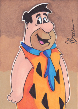 Sketch Card #89 - Fred Flintstone by *destinyhelix