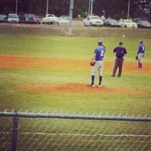 Baseball. My favorite sport. #2 my lucky number. He doesn't even know he's being scouted at his game right now and is the only one on the team who's got a home run and scored on the game tonight, Goodluck @yaboydino I love you 😘😘