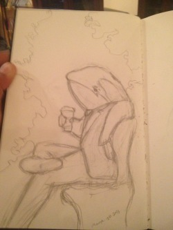 its tough being a whale. orca whale takes his coffee break with a sigh of contemplation… should he eat a seal or migrate to the west coast. so tough.