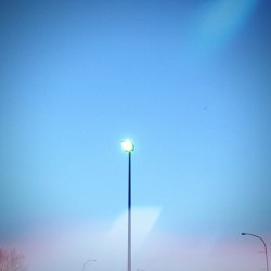 Post Sunset Lamp Post.