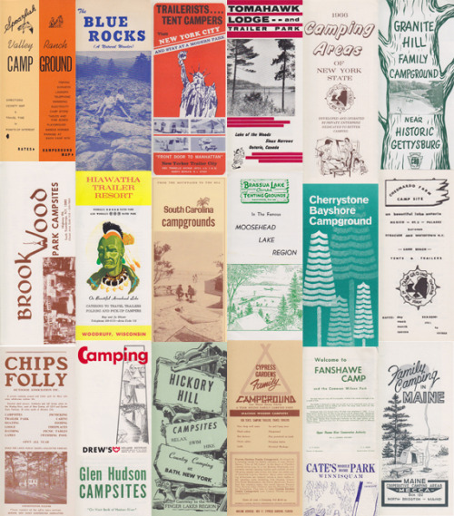 A beautiful collection of vintage American and Canadian campsite brochures from the 60s and 70s. Quite a few from Maine in there too. (via Vintage Hiking Depot)