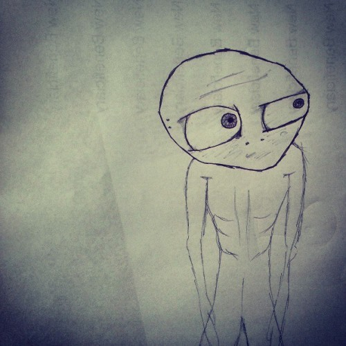 Look! I #drew an #alien #monster for the first time. See, I'm good at #artwork too.