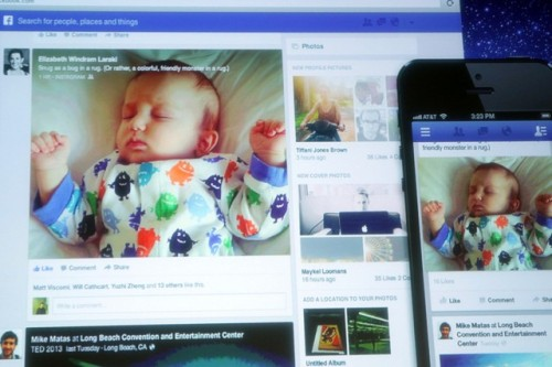 Another Facebook Redesign: Facebook CEO Mark Zuckerberg unveiled the site's redesigned News Feed on Thursday morning, revealing an even greater emphasis on photos and check-ins than before. While the changes are likely to be met with the same criticism that accompanies most social network redesigns these days, we have to admit we're fans of the new-look photo captions. We're still not going to check-in anytime we manage to sneak away from work/home for a few minutes though. (Photo via AllThingsD) source
