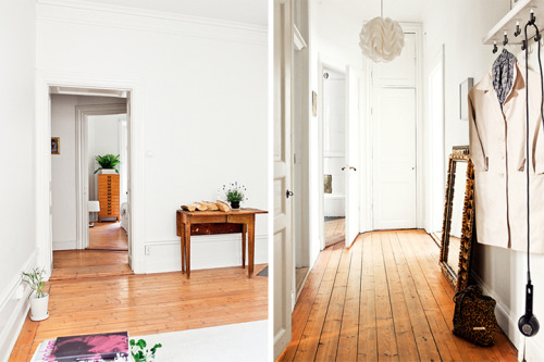 somniloquy:  The white apartment with the wooden floor // Белия апартамент с дървения под | 79 Ideas