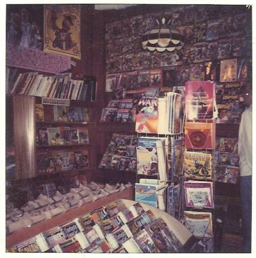 browsethestacks:  Vintage Photo - Local Comic Shop (c.1980/1981)  This is not unlike the first comic store that I visited in Garden Grove, CA. On Brookhurst St., if memory serves. If only I could remember the name. Comics Unlimited? My memory shames me. An earlier blog entry indicates that it was called Brookhurst Comics, but that doesn't feel right. I probably won't be able to sleep tonight because of this. And I know it wasn't Mile High Comics, though they had a shop not far from the one I'm trying to remember.