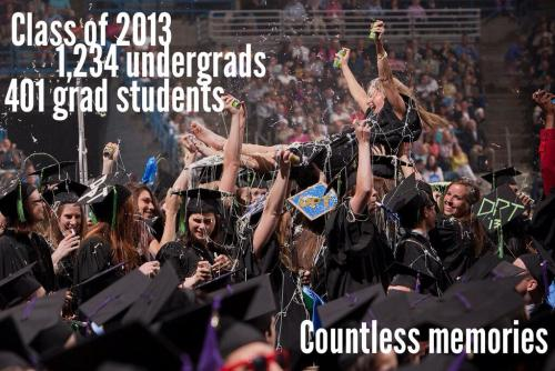 via marquetteu:  The Class of 2013, by the numbers.  Professional Marquette physical therapy graduates. Do not attempt at your graduation.