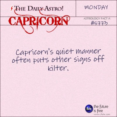 Capricorn 5773: Visit The Daily Astro for more facts about Capricorn.