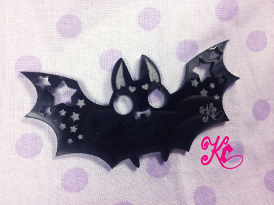 thunder-bunny:  Creepy Cute Little Bat Necklace $14 Ahhaa precious ; 3 ;