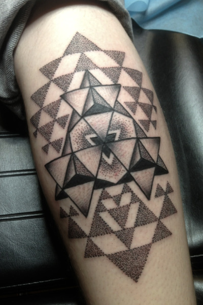 childthepeacemaker:  Mike's Yantra Michael E. Bennett 2Spirit Tattoo San Francisco, CA