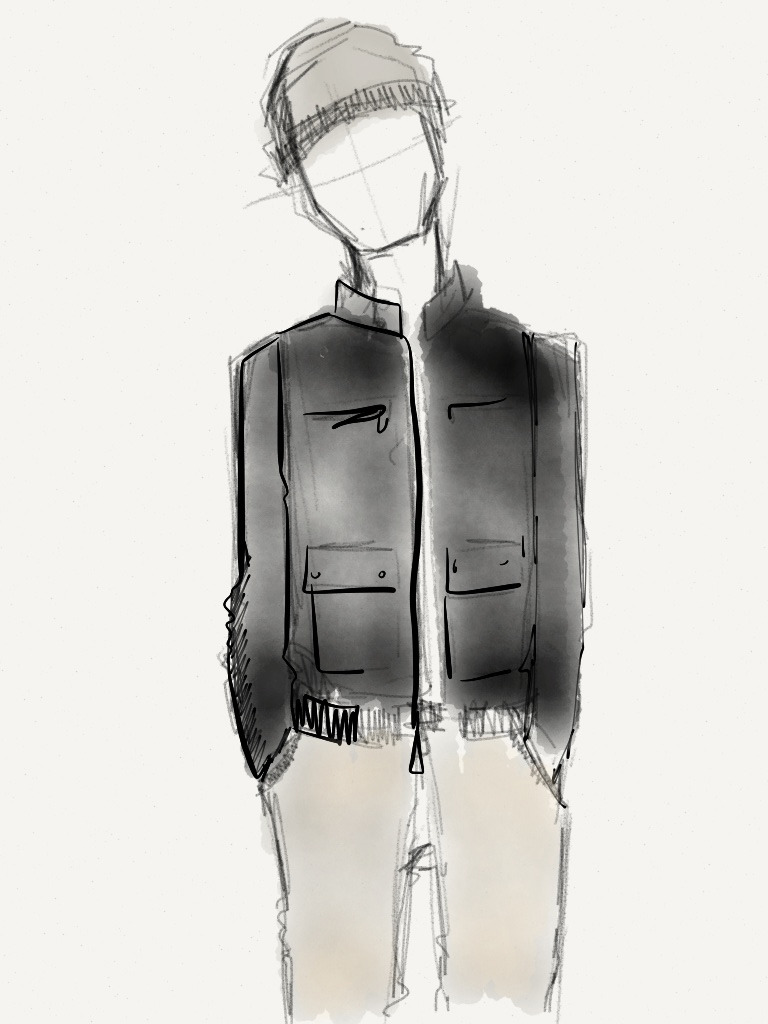 Sketch no. 14 Calvin Klein Jacket, $124.99