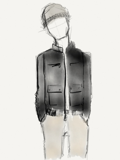 textbook:   Sketch no. 14 Calvin Klein Jacket, $124.99