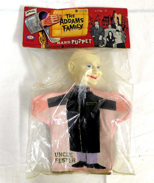 The Addams Family - Uncle Fester hand puppet (1965) In original package.