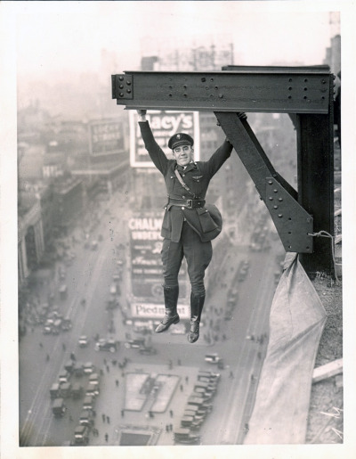 collectivehistory:  A man hanging around in what appears to be a NYPD Aerial Police uniform c 1930s
