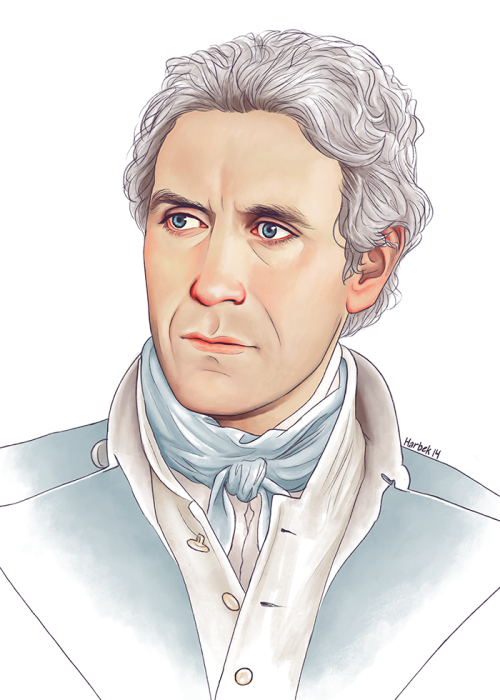 """harbek:  Trying a different colouring style. Couldn't quite decide whether I should draw Eight or Bush, so I'm just gonna go with the """"William Bush is secretly the Eighth Doctor with amnesia"""" AU, so I can have both."""