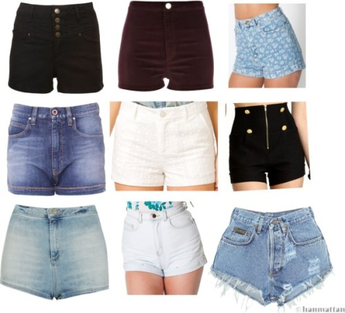 Collection of high waisted shorts! by ieleanorcalderstyle featuring high waisted shortsArmani Jeans high waisted shorts, $220 / American Apparel high waisted shorts / American Apparel high waisted shorts / Topshop high waisted shorts / Levi's denim shorts / River Island high waisted shorts, $16 / Forever 21 high waisted shorts / Denim shorts, $27 / High waisted shorts
