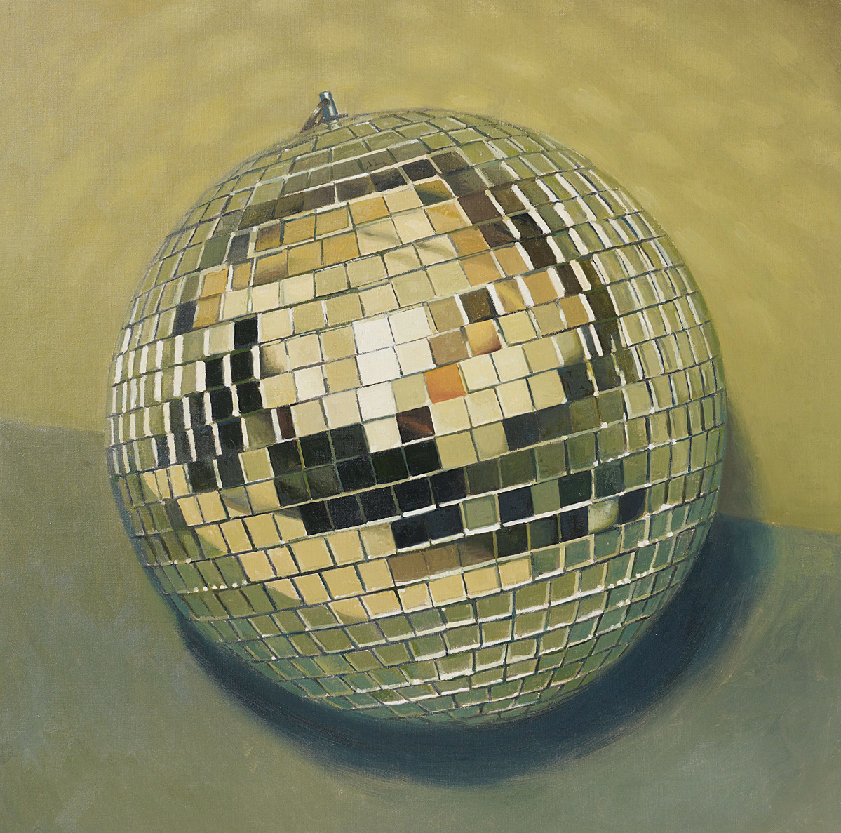 Shiny Disco Balls | Who Da Funk  PETER ROSTOVSKY | Disco Ball, 2001 | oil on canvas.  Sold for £2,000 at Under the Influence, 11 April 2013, London.