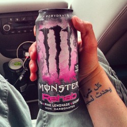 Wtf? New pink lemonade monster !?!! #monster #pink #rehab #monsterenergy #pinklemonade #energydrink #awesome #breastcancerawareness (at Kangaroo Express)