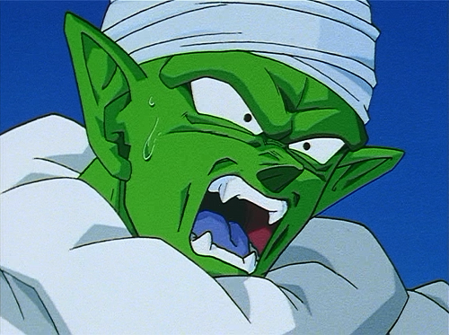 Dragon Ball Z - Episode 255 - Piccolo horrified by the two moms.