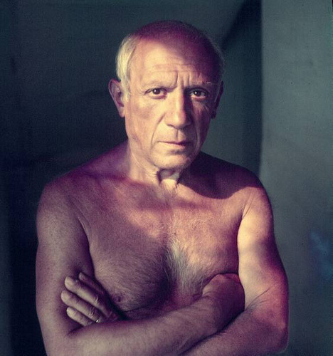 "theunfoundone:  artistandstudio:  Picasso  ""computers are useless they can only give you answers."" Pablo"