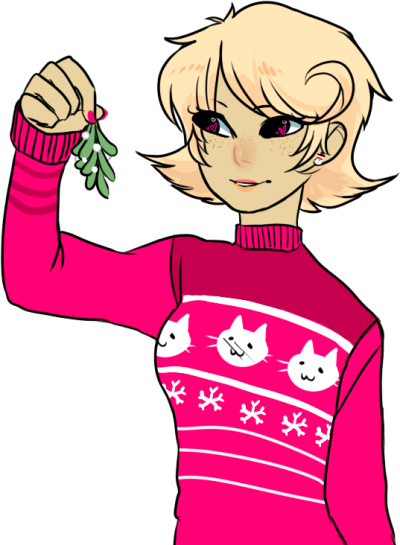 stridork:  christmas roxy i drew at school (its transparent, for all your 'i wanna kiss roxy lalonde' needs )