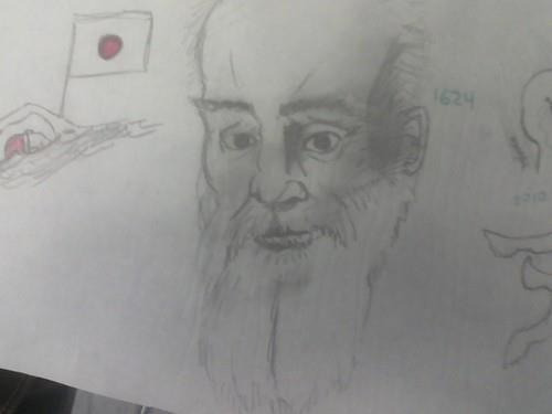 had to draw Galileo for a marine science project.