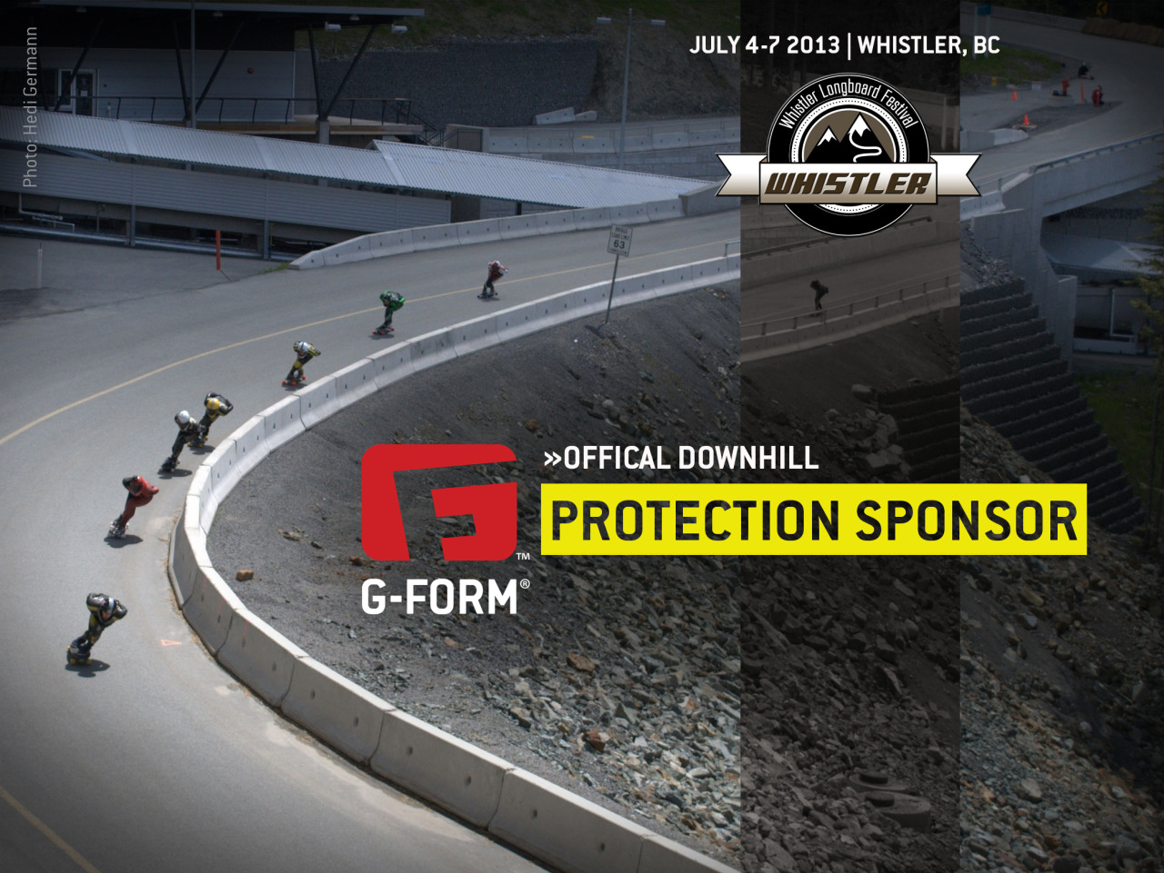 Whistler Longboard Festival - G-FORM PAD GIVEAWAY! Whistler, BC - Aug 4-7, 2013. Stoked to say G-Form is the Official Protection Sponsor of Whistler DH! More info here. The above can be found at http://g-form.com/skate/ in our events calendar.  GIVEAWAY INFO: If this post reaches 100 notes, G-Form will give away a set of pads randomly to one of the people who reblogs this image.An extra set will be given away for each increment of 100 notes after that.   After you have reblogged, you MUST ENTER HERE (<click) to be in the running.. So get to reblogging mateys!!  -MG