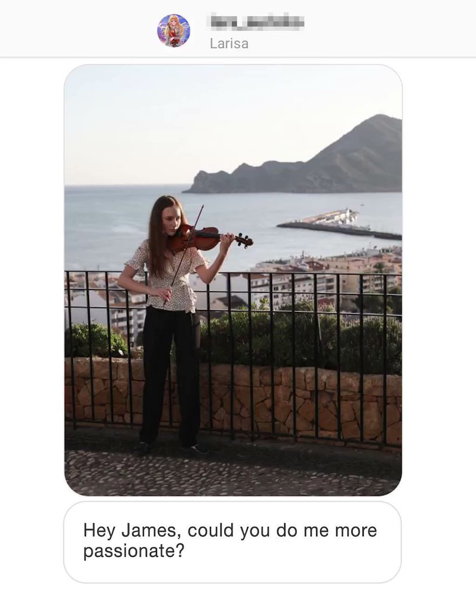 https://t.co/hQmAeAlH5N Larisa Hey James, could you do me more passionate?