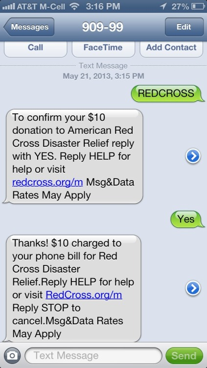 Hey everyone! Text REDCROSS to 90999 to donate $10 to the OK relief fund!!