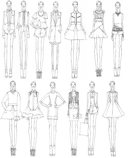targetstyle:  Prabal Gurung for Target Initial sketches from this amazing designer for thecollection that is launching on February 10.