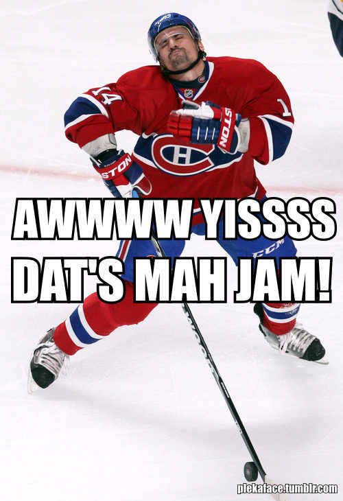 hockeymedo:  OMG..can't STOP laughing…. Plekanec's face is the BEST… kspskpskspksp  LOL Plekanec…