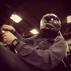 Keeping my eyes on the drivers BEHIND me. Fun day at work today. #gopro #gokart @gopro @vestalwatch  (at GoKart Racer)
