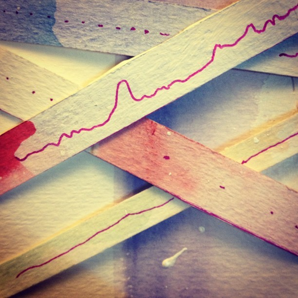 Thin line traveller … #watercolors #paper #weave #cards #craft #cut #play  (at shadow's)