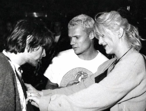 Kurt Cobain, Courtney Love and Flea. Brazil, 1993.
