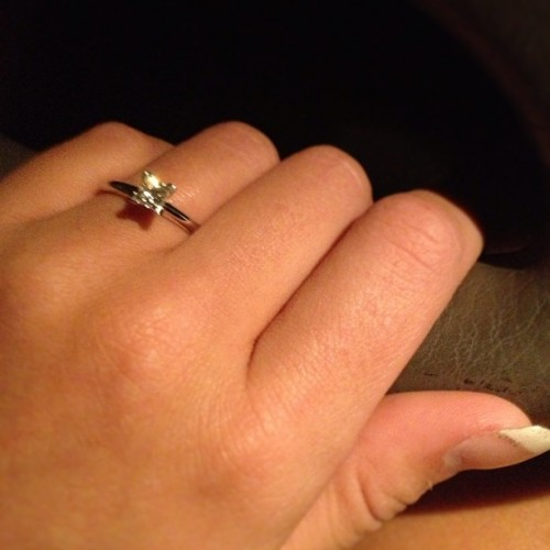 I'm engaged!! 💙💎💍💎💙 #obsessed #gorgeous #engaged #milso #milsolove #airforce