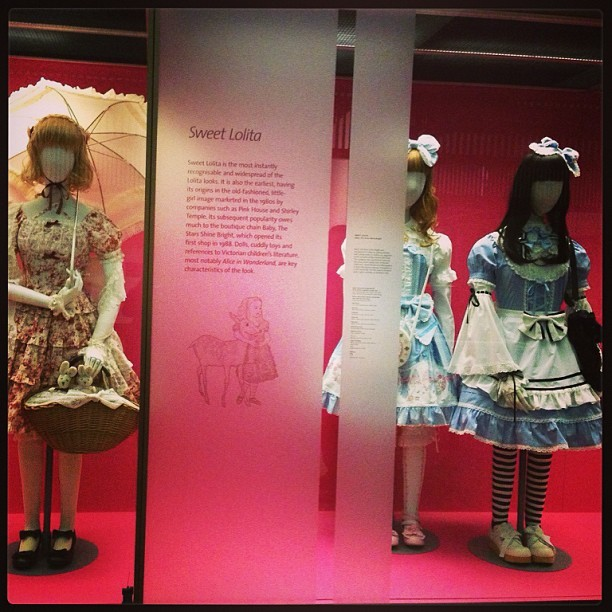 Sweet #lolita exhibit @V_and_A museum in #London. #fashion #travel