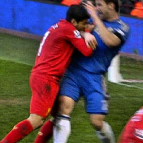 mookzilla:  Well. It looks like Suarez won't only be receiving the Golden Boot at the end of the season. He'll also score himself the Golden Tooth… #ynwa #suarez #goalmachine #jokes #instaberry Ok that's the last time i diss my own player. Not.