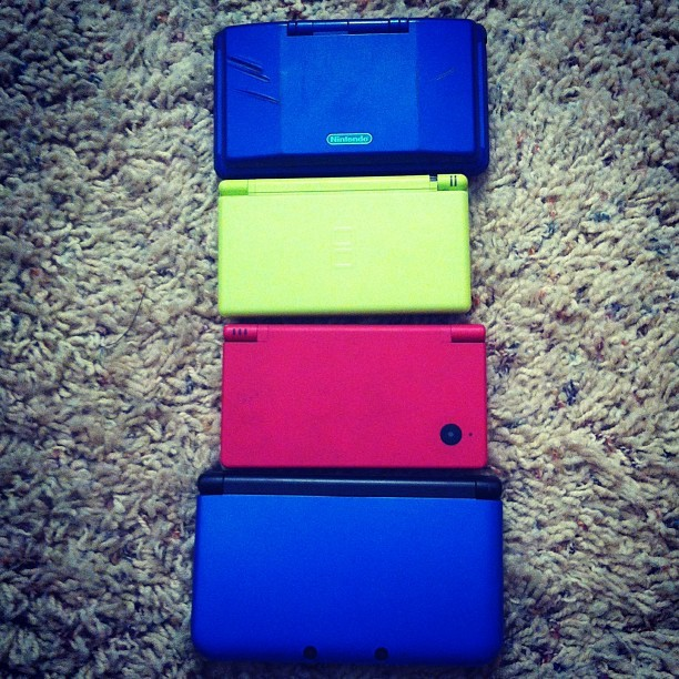 All of my Nintendo DS Handhelds. How many do you have?