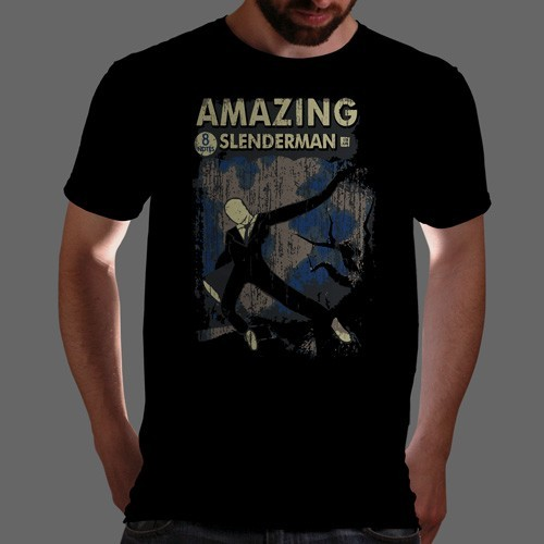 "qwertee:  ""Slender Comics #1"" is today's tee on www.Qwertee.com Get this great design now for the super price of £8/€10/$12 for 24 hours only. Be sure to ""Like"" this for 1 chance at a FREE TEE this weekend, ""Reblog"" it for 2 chances and ""Follow"" us for a 3rd chance (if you're not already:) Thanks Guys!"