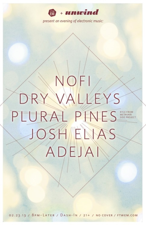 Plural Pines at the Dash-In this Friday with some other awesome acts.