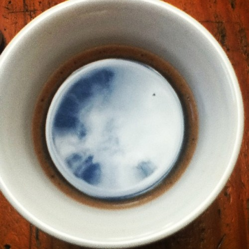 Coffee time. #reflection #sky #coffee