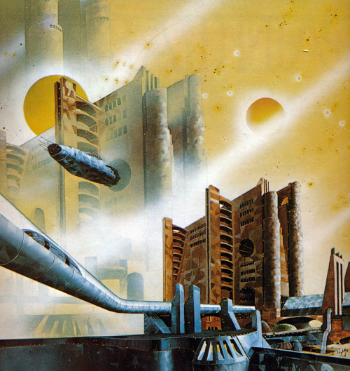 Untitled painting by Tony Roberts from Harry Harrison's book 'Mechanismo' (1978)