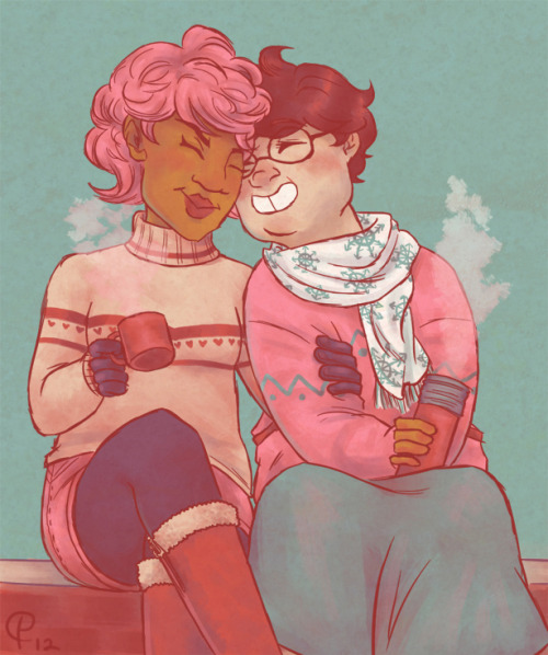 Half-arsed doodle with less-arsed coloring of cotton candy and warm drinks.