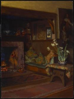 The Inglenook in My Studio, c. 1910Mary Hiester Reid Canadian, 1854 - 1921Oil on canvas61.2 x 46 cmPurchase, 1987© 2013 Art Gallery of Ontario