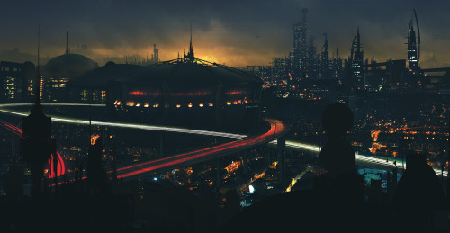 Post Appoc Skyline Matte Painting
