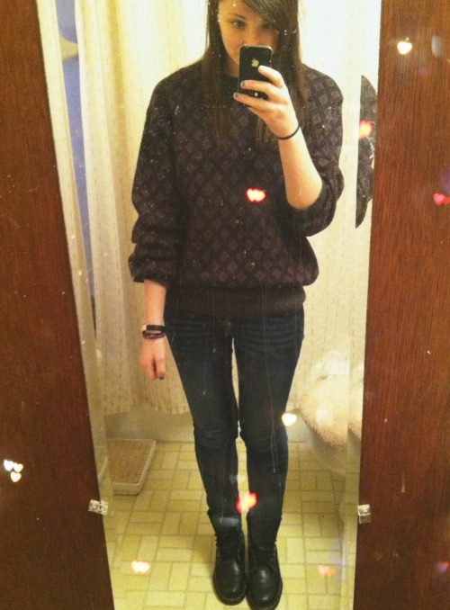 hi I got a new sweater from Good Will yesterday