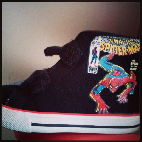 I got major cool points for giving him these shoes. #spiderman