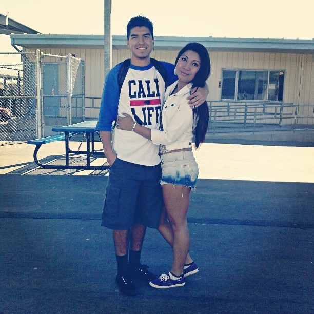 Me and joseeee :) #lovehim #closefriends #seniors #beaner #coconut  (at schooooool)